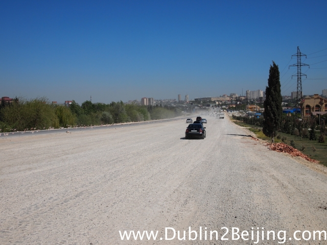 This was the main road into Baku for about 1km. Combined with the wind and the crazy drivers it was a challenge in itself!