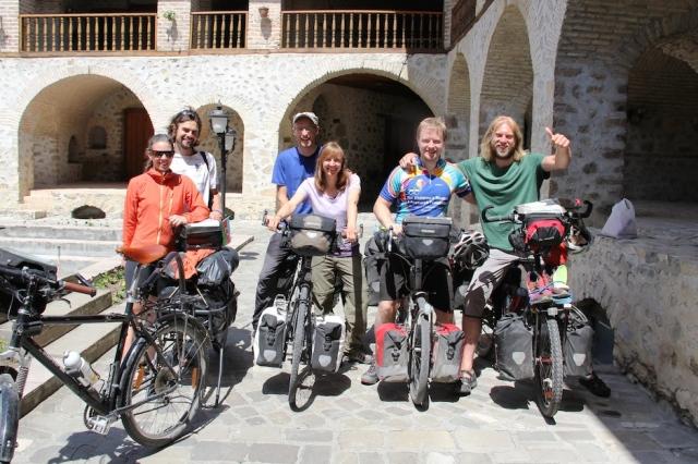 Plenty of cyclists lurking in the Caravanserai in Sheki
