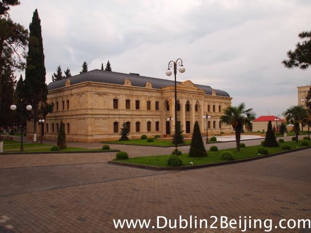 Balakan, Azerbaijan. The Azeri towns were nicer than Georgia. Clearly more wealth here.