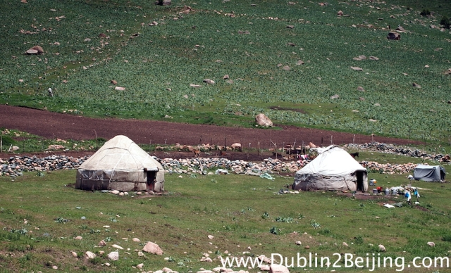 Real yurts, real Kyrgyz. (Although I saw a solar panel outside one at one point!)