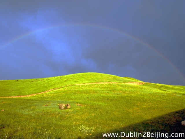 The first of the many rain storms in Kyrgyzstan gave us a beautiful rainbow