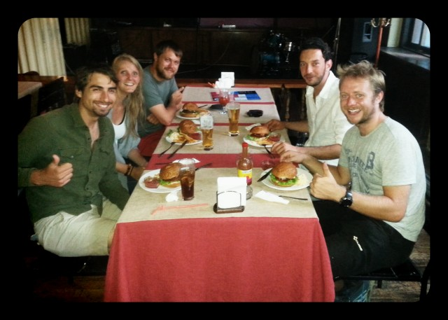 Bishkek Budds: I had a merry gang of backpackers to accompany me to Metro for beer and burgers