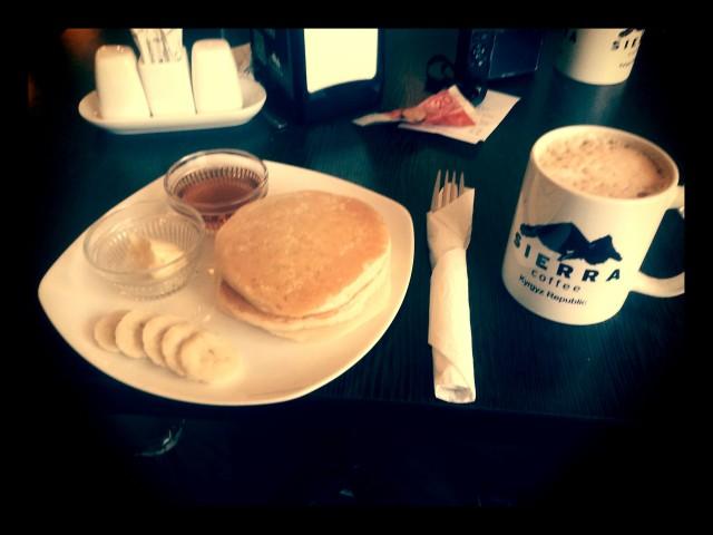 Sierra's pancakes were one of the sources of calories that helped me gain 4kg whilst in Bishkek. Hoorah!