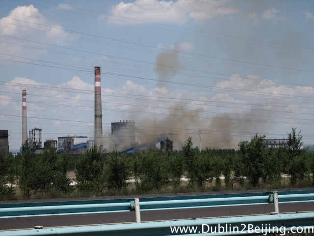 Pollution: Nasty clouds of fumes were coming from the endless power plants.