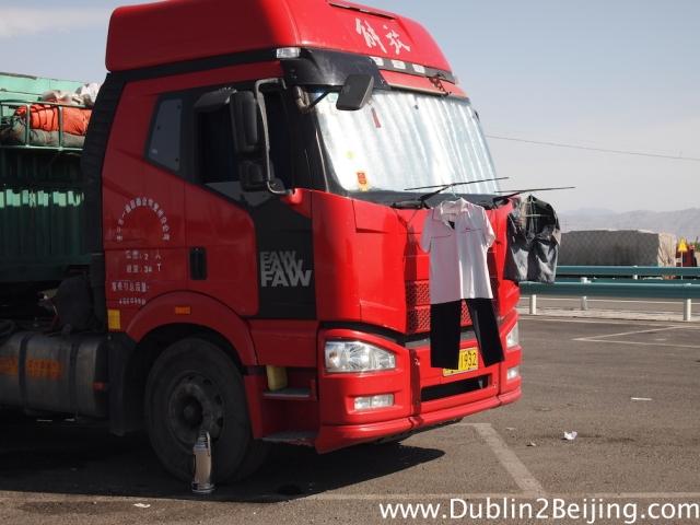 Innovative trucker!