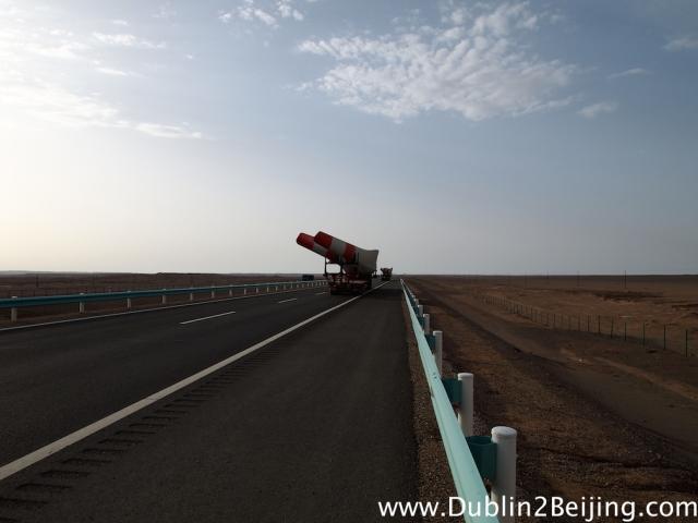 Wind turbine blades on the road