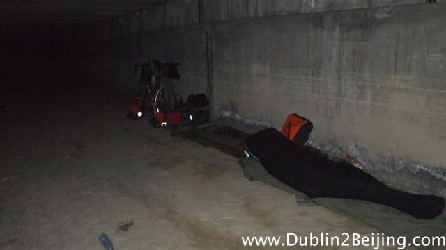Grim tunnel under the road.