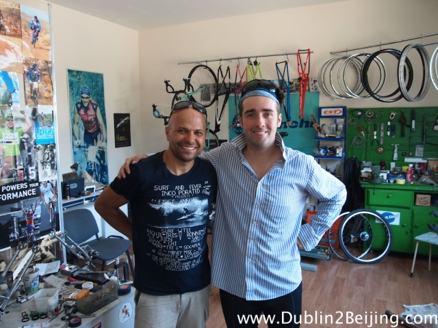 The former soviet champion cyclist who fixed James' bike for €6! Legend!